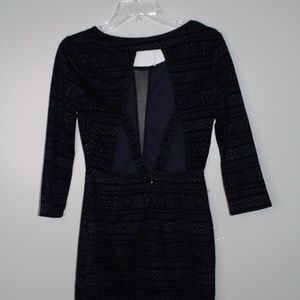 Charlotte Russe black/navy blue dress SZ M
